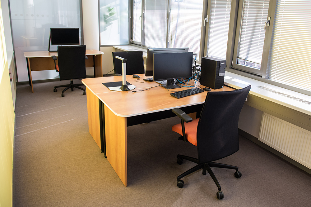 Special individual reading/computer room situated in the University Library